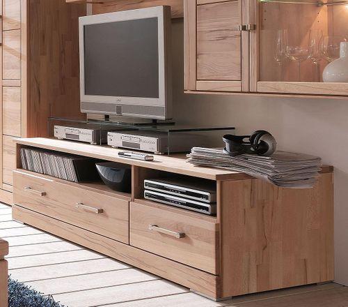 Massivholz TV-Bank Kernbuche 176x47x42cm Lowboard Holz natürlich geölt – Bild 1