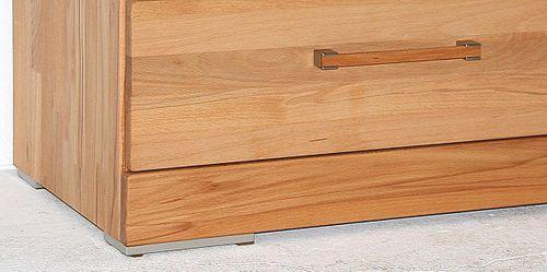 Massivholz Lowboard 238x47x42cm Kernbuche 2 Schubladen 1 Klappe massiv geölt TV-Bank – Bild 3