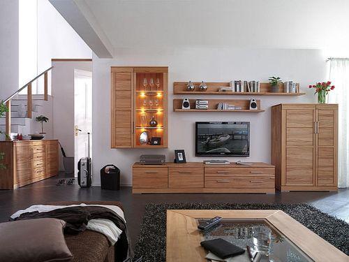 Massivholz Lowboard 238x47x60cm Kernbuche Hifi-Tisch TV-Möbel Casera – Bild 7