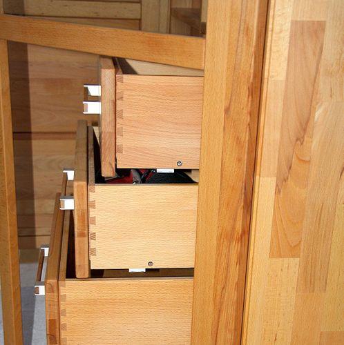 Massivholz Highboard rechts Esszimmerschrank Mehrzweckschrank Kernbuche geölt Casera Wohnzimmer – Bild 3