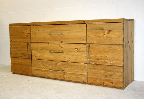 Wäschekommode Kiefer Schlafzimmerkommode massiv Sideboard gelaugt geölt – Bild 3
