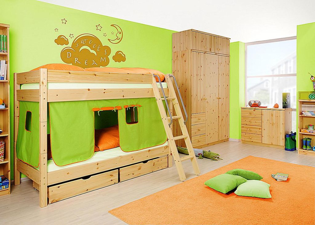 Etagenbett Kiefer Massiv : Ehrfurcht gebietend etagenbett mit schrank komplett kinderzimmer