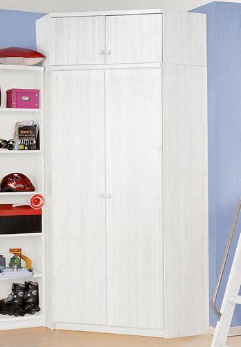 Spielzimmer 10teilig Kiefer massiv weiß lackiert Hochbett Eckschrank Regale – Bild 3
