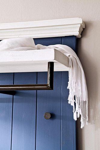 Garderobenpaneel Kiefer blau Holz Garderobe Vintage gebürstet – Bild 6