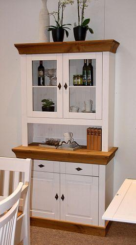 Küchenschrank 2farbig weiß Kiefer Buffetschrank Buffet Vollholz massiv – Bild 1