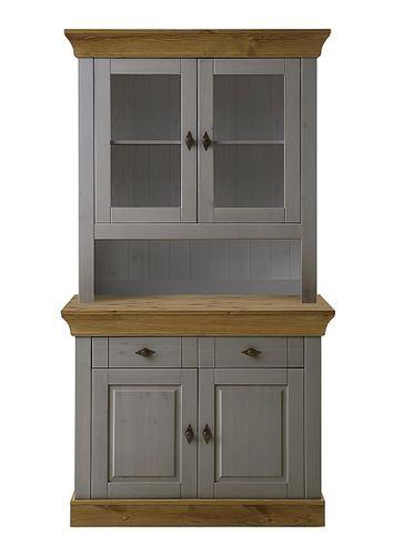 Küchenschrank 2farbig grau gelaugt geölt Kiefer Buffetschrank Buffet Vollholz massiv – Bild 2