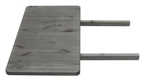 Küchentisch 120x78cm 2farbig weiß grau Kiefer Esstisch Tisch Vollholz massiv – Bild 3