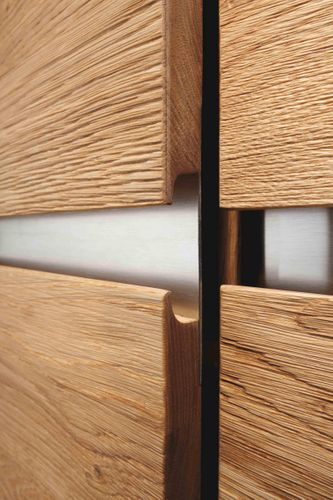 Massivholz Anrichte rustik. Asteiche 181x92x42cm – Bild 5