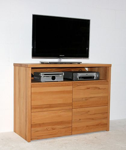 tv kommode 105x80x45cm 2 t ren kernbuche massiv ge lt. Black Bedroom Furniture Sets. Home Design Ideas