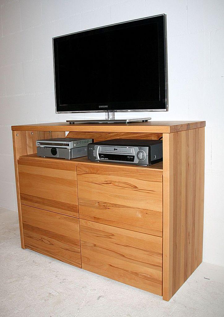 TV-Kommode 105x80x45cm, 2 Türen, Kernbuche massiv geölt