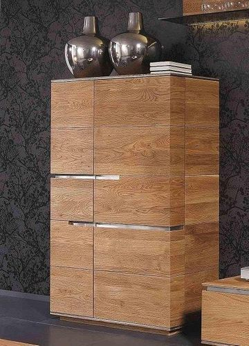 Massivholz Highboard rust. Asteiche 97x149x42 – Bild 1