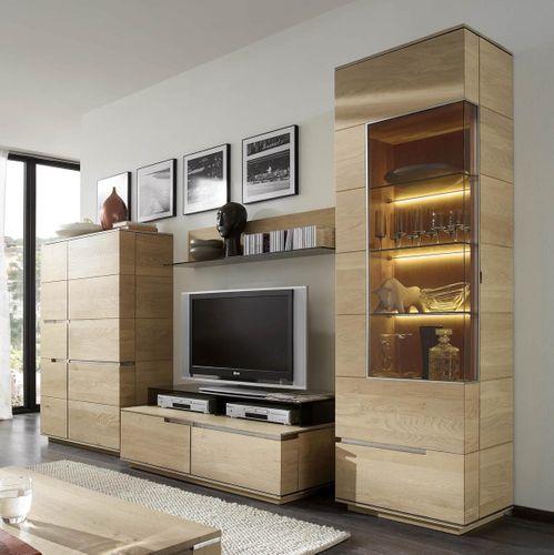 Massivholz TV-Schrank rust. Asteiche 42cm – Bild 3