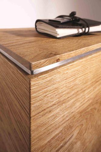 Massivholz Lowboard Asteiche 241x60x38cm Hängeschrank – Bild 2