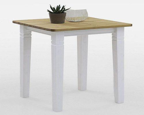 Bartisch 120x78cm Höhe 103cm 2farbig weiß Kiefer Esstisch Tisch Vollholz massiv – Bild 1
