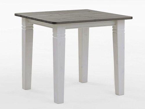 Bartisch 120x78cm Höhe 103cm 2farbig weiß grau Kiefer Esstisch Tisch Vollholz massiv – Bild 1