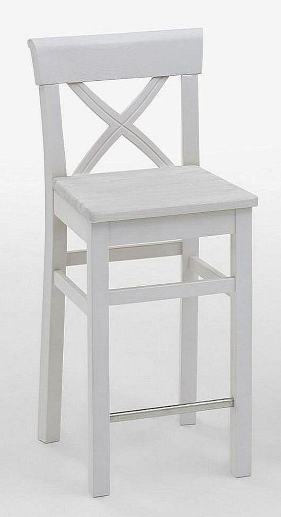 barhocker 44x96x44cm kiefer massiv wei lasiert. Black Bedroom Furniture Sets. Home Design Ideas