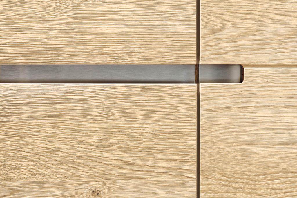 Wohnwand 4teilig ACERRO 375x206x56cm Anbauwand rustikale Asteiche massiv – Bild 10