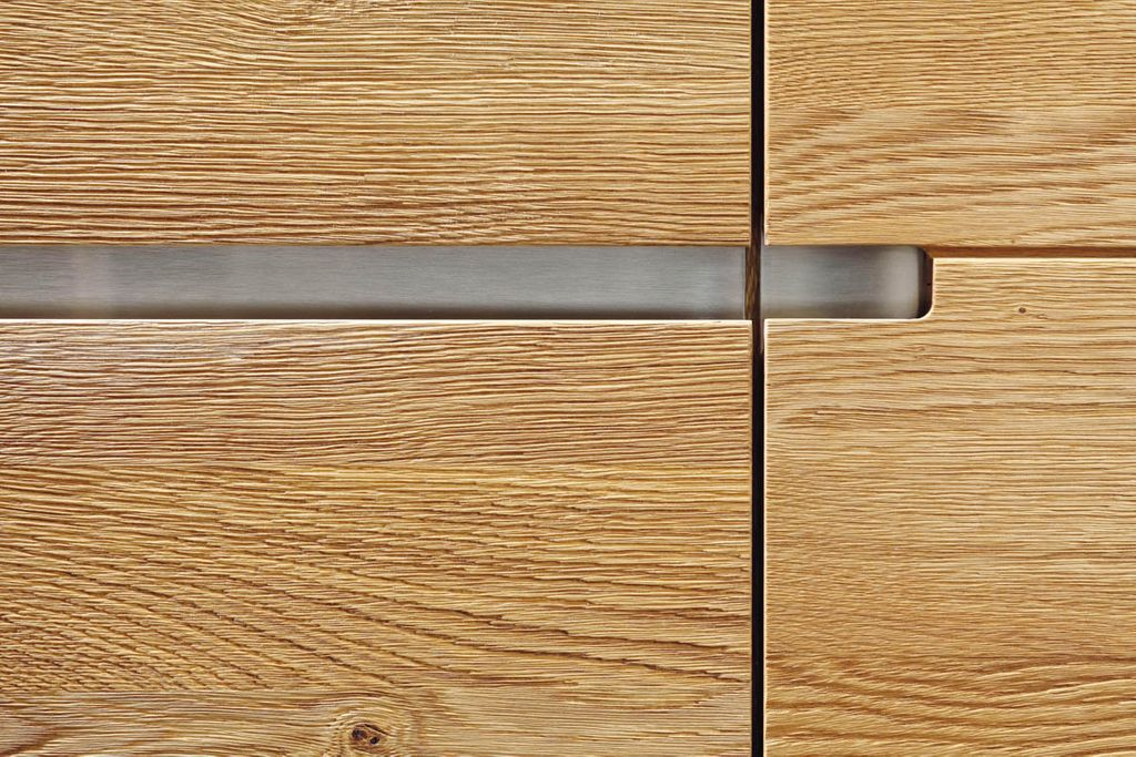 Wohnwand 4teilig ACERRO 375x206x56cm Anbauwand rustikale Asteiche massiv – Bild 11