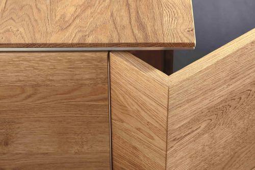 Wohnwand 4teilig ACERRO 375x206x56cm Anbauwand rustikale Asteiche massiv – Bild 8
