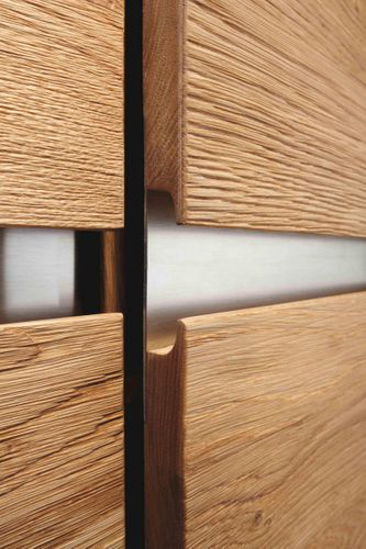 Wohnwand 4teilig ACERRO 375x206x56cm Anbauwand rustikale Asteiche massiv – Bild 9