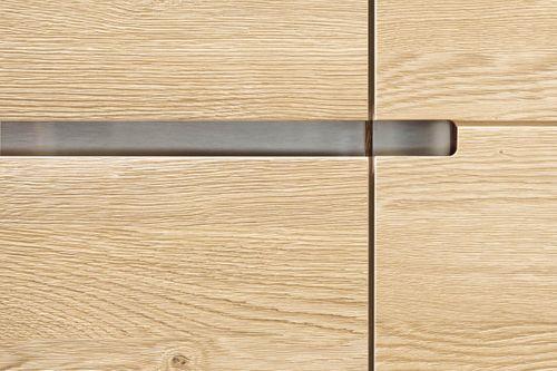 Wohnwand 5teilig ACERRO 350x206x56cm Anbauwand rustikale Asteiche massiv – Bild 13