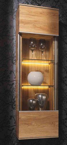 Wohnwand 5teilig ACERRO 350x206x56cm Anbauwand rustikale Asteiche massiv – Bild 6