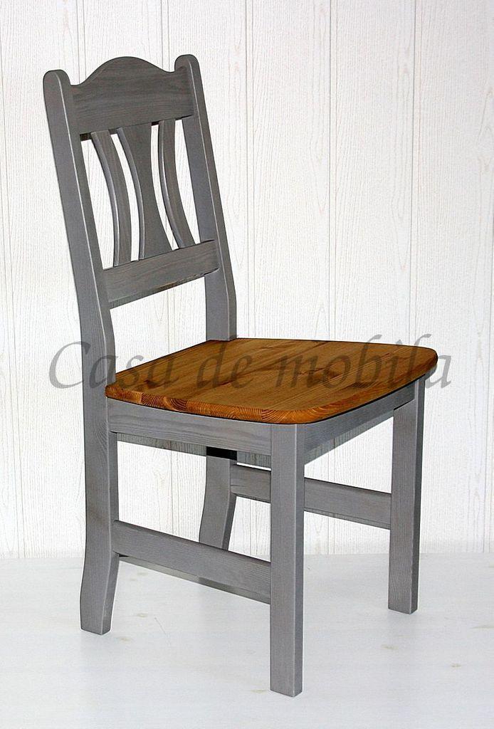 stuhl 44x92x45cm mit holzsitz kiefer massiv 2farbig grau lasiert gelaugt ge lt. Black Bedroom Furniture Sets. Home Design Ideas