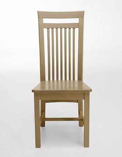 Holzstuhl Kiefer gelaugt geölt Stühle Vollholz massiv Stuhl aus Holz – Bild 1