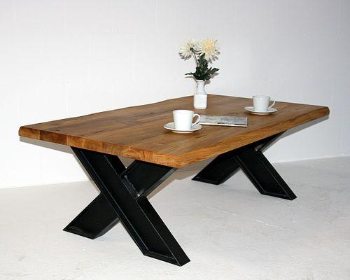 couchtisch 135x45x75cm nat rliche baumkante tischplattenst rke 60mm rustikale wildeiche natur. Black Bedroom Furniture Sets. Home Design Ideas
