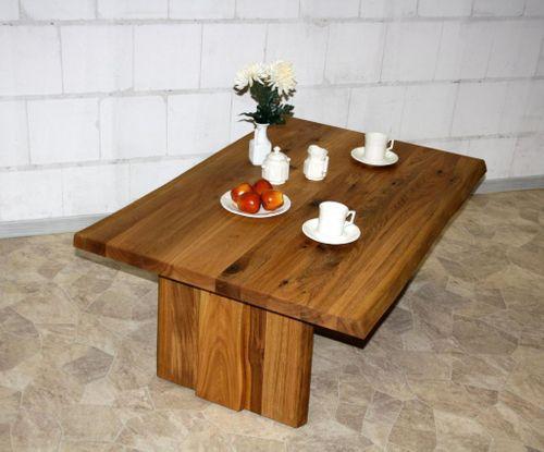 Esstisch 240x76x100cm baumkante metallf e wildeiche ge lt for Wohnzimmertisch vollholz