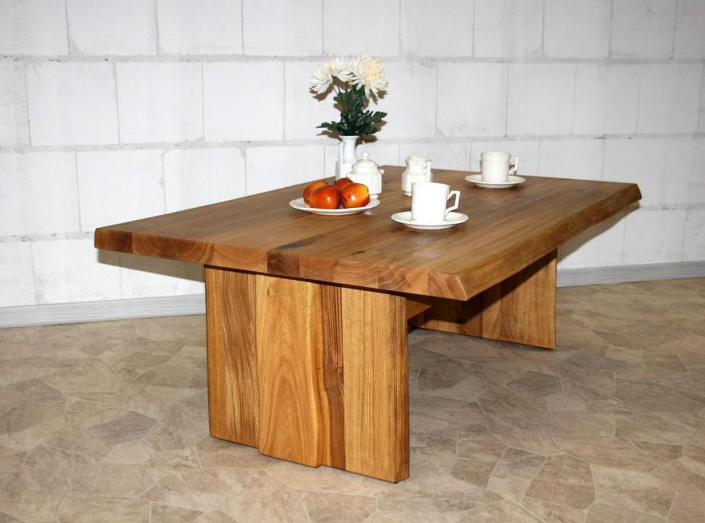 couchtisch 90x45x90cm baumkante holzf e wildeiche. Black Bedroom Furniture Sets. Home Design Ideas