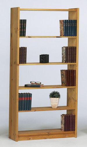 Regalwand 252x205 Büroregal Kiefer Bücherregal Vollholz massiv gelaugt geölt – Bild 9