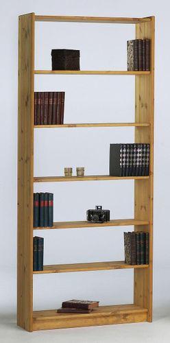Regalwand 252x205 Büroregal Kiefer Bücherregal Vollholz massiv gelaugt geölt – Bild 10