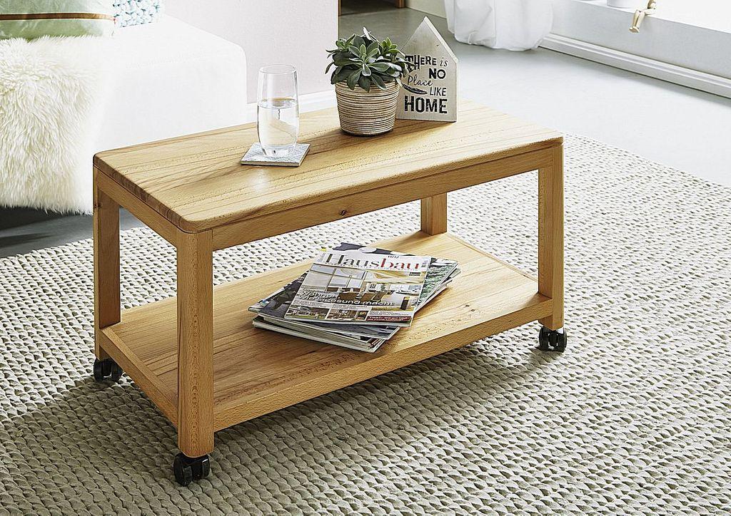 rollwagen 75x40x40cm ablageboden kernbuche massiv ge lt. Black Bedroom Furniture Sets. Home Design Ideas