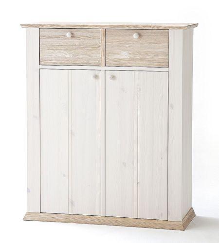 Wäscheschrank weiß Schlafzimmerkommode Vollholz Wäschekommode Kiefer massiv – Bild 2