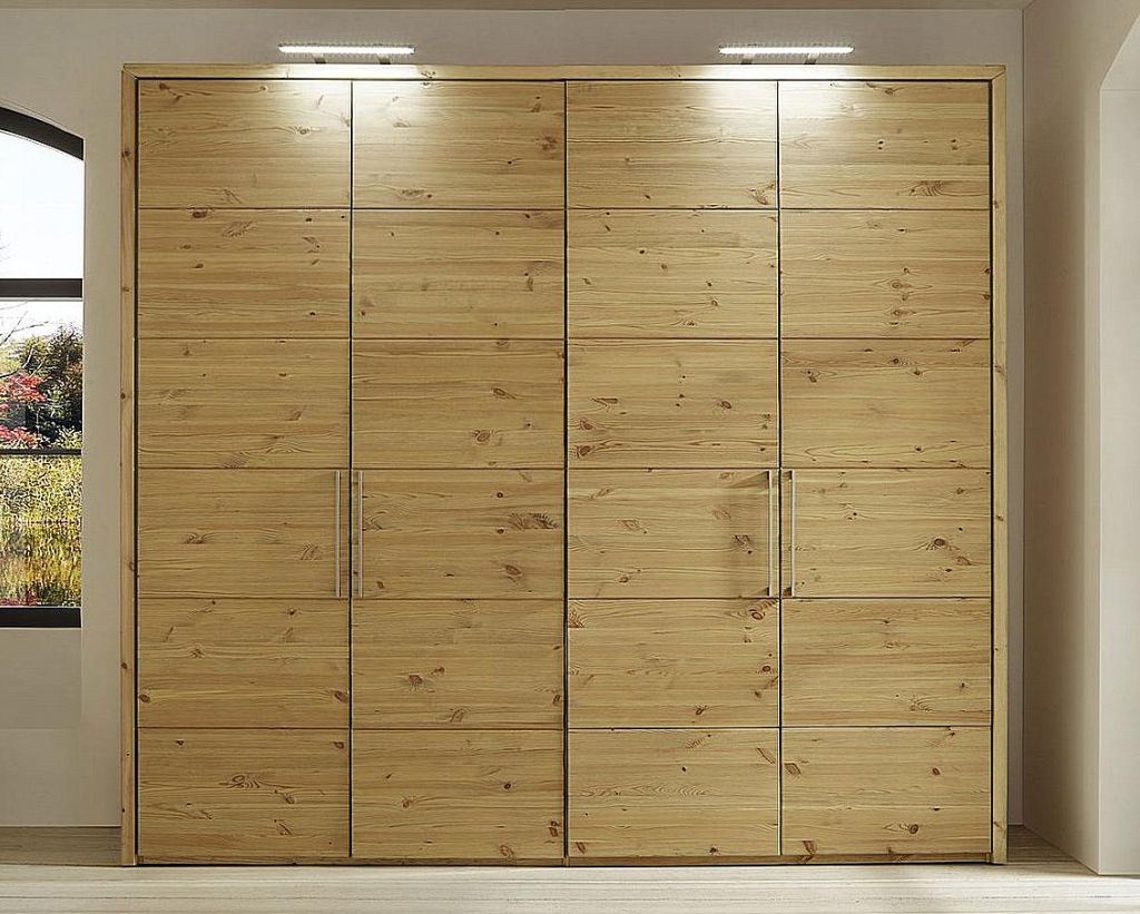 kleiderschrank 4t rig 204x223x60cm 50er raster kiefer. Black Bedroom Furniture Sets. Home Design Ideas