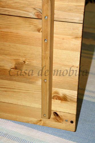 Kleiderschrank 2türig Kiefer massiv 103cm Breite Schrank gelaugt geölt – Bild 5