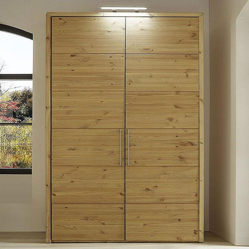 kleiderschrank 2t rig 123x223x60cm 60er raster kiefer. Black Bedroom Furniture Sets. Home Design Ideas