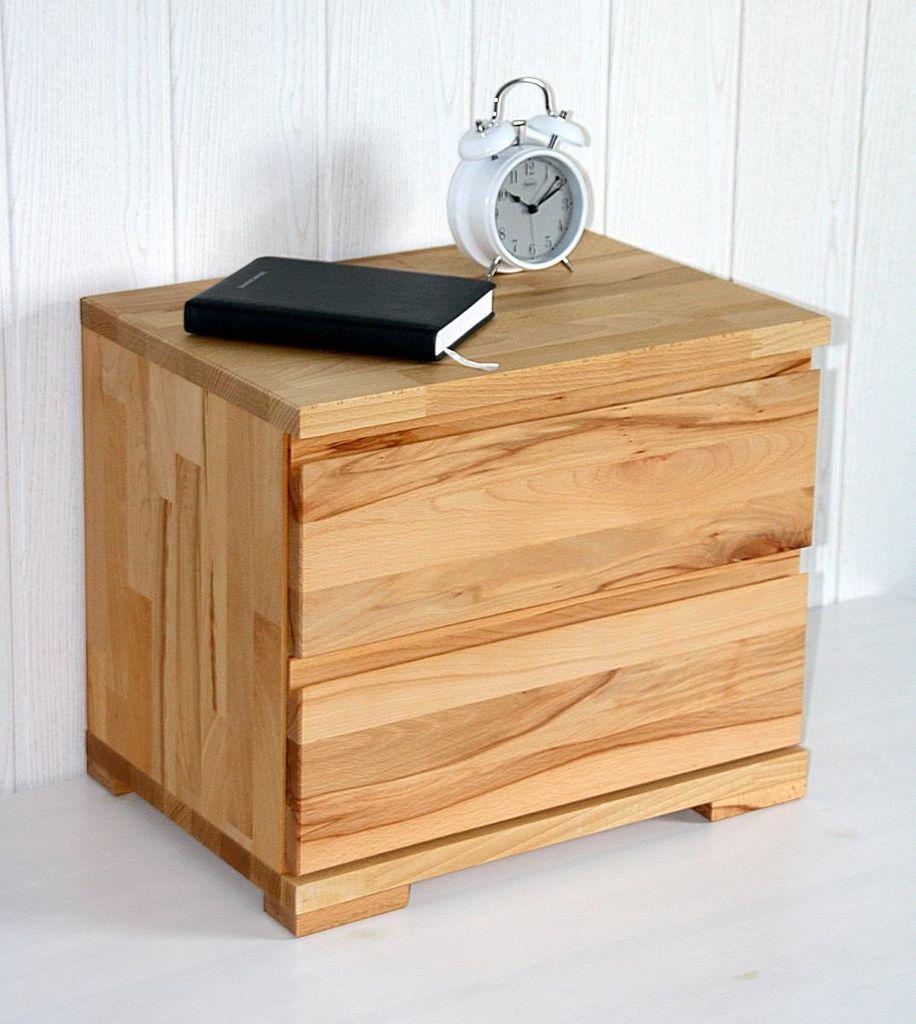 nachtkommode 50x42x35cm 2 schubladen massivholz ge lt. Black Bedroom Furniture Sets. Home Design Ideas