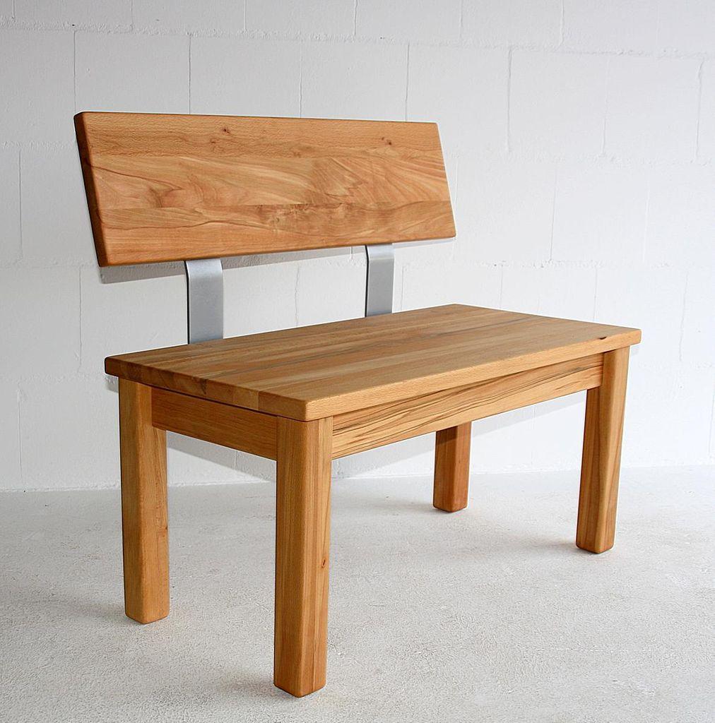 Sitzbank Mit Lehne Holz : massivholz sitzbank mit r ckenlehne 200cm ge lt holz ~ Watch28wear.com Haus und Dekorationen