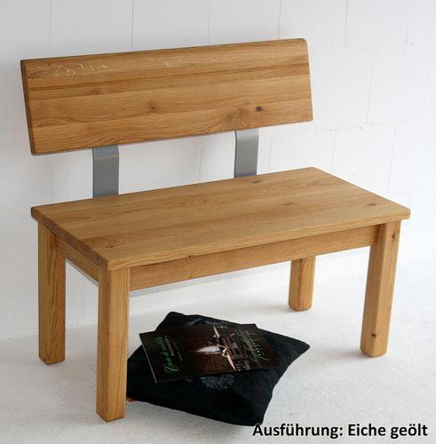 sitzbank 95x83x53cm mit verj ngter r ckenlehne massivholz ge lt. Black Bedroom Furniture Sets. Home Design Ideas