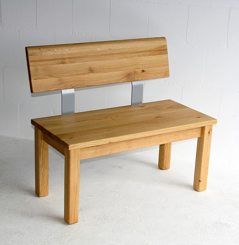 sitzbank 120x83x53cm mit verj ngter r ckenlehne massivholz ge lt. Black Bedroom Furniture Sets. Home Design Ideas