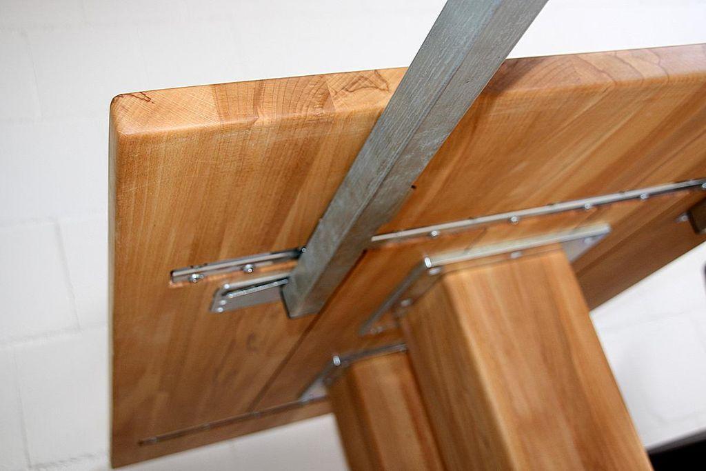 s ulen esstisch 160 210x76x95cm mit holz bodenplatte und ansteckplatte massivholz ge lt. Black Bedroom Furniture Sets. Home Design Ideas