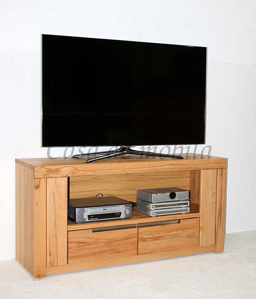 Tv Lowboard 128x62x40cm 2 Kleine Schubladen 1 Grosses Offenes Fach