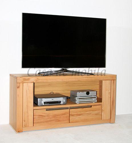 Massivholz TV-Kommode hoch Kernbuche Lowboard – Bild 2