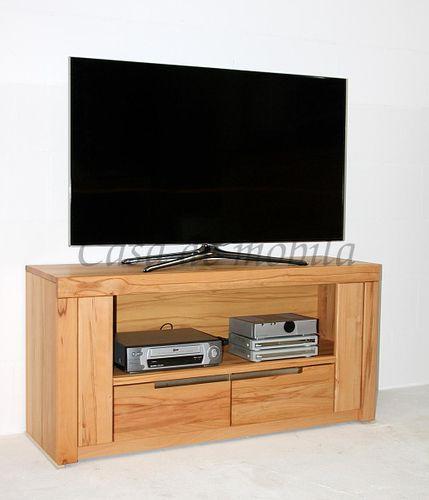 Massivholz TV-Kommode hoch Kernbuche Lowboard – Bild 1