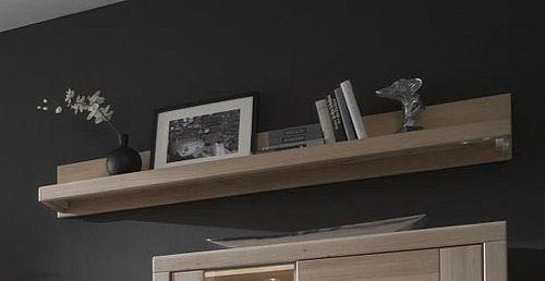 Massivholz Wandboard 173cm Wildeiche Bianco geölt Wandregal  – Bild 1