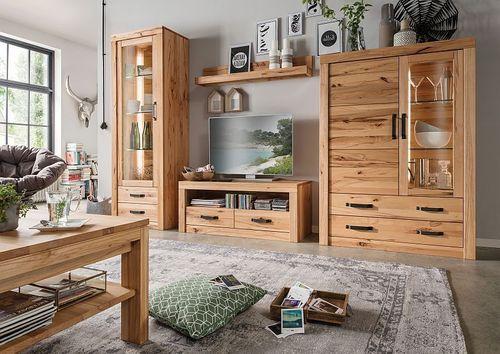 Massivholz TV Tisch I 114x49x42cm TV Kommode Massiv Geölt U2013 Bild 3