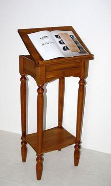 Stehpult 50x105x38cm, 1 Schublade, 1 verstellbare Klappe, Pappel massiv honigfarben lackiert