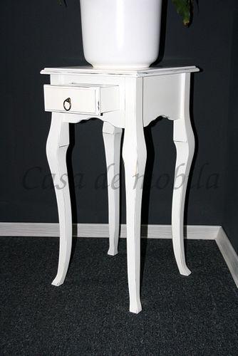 Wandtisch weiß Telefontisch Beistelltisch 80x39 Vollholz massiv – Bild 7